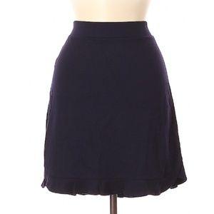 Ann Taylor Jersey Knit Navy Skirt